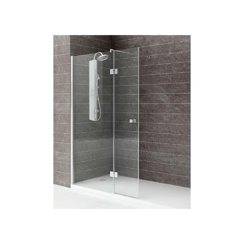 Mampara ducha 1 fijo 1 abatible transparente modelo 55 - Puerta mampara ducha ...