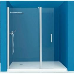 Mampara ducha 1 fijo - 1 Puerta Abatible TRANSPARENTE Modelo 74 Acquaban.
