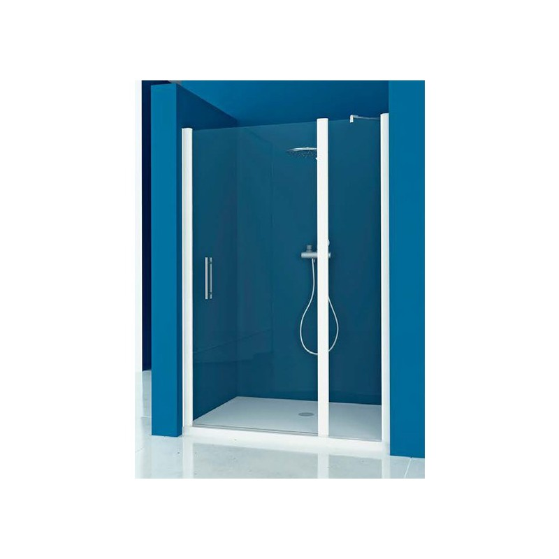 Mampara ducha frontal 1 fijo 1 puerta abatible for Mampara ducha fijo abatible
