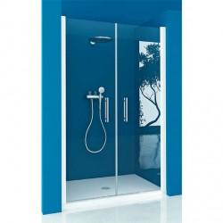 Mampara ducha Frontal 2 Puertas Abatibles TRANSPARENTE Modelo 77 Acquaban.