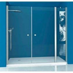 Mampara ducha Frontal 1 fijo - 2 Puertas Abatibles TRANSPARENTE Modelo 78 Acquaban.