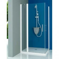 Mampara ducha Frontal 1 fijo - 2 Puertas Abatibles TRANSPARENTE Modelo 70-1 Acquaban.