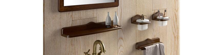 Accesorios ba o madera montana de gedy - Accesorios de bano en madera ...